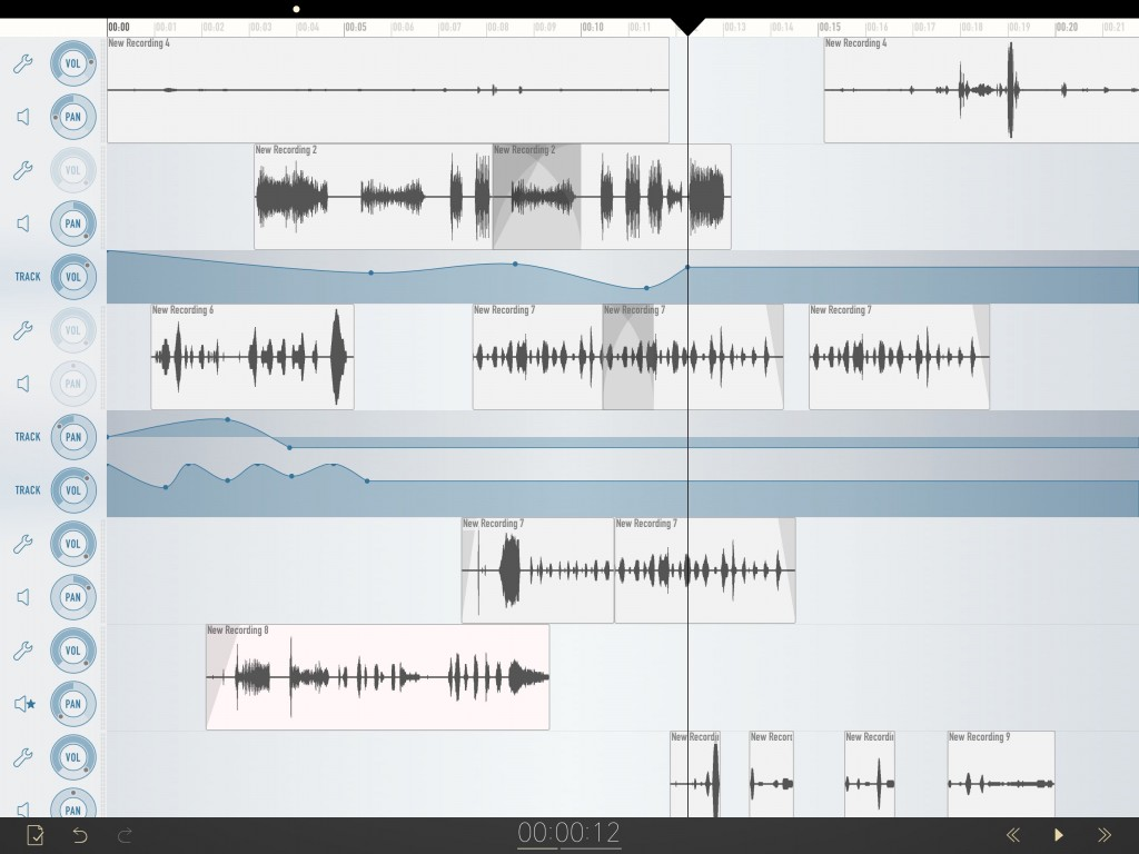 With a clean and uncluttered interface, multi-track audio editing/arranging is a pleasure within Ferrite.