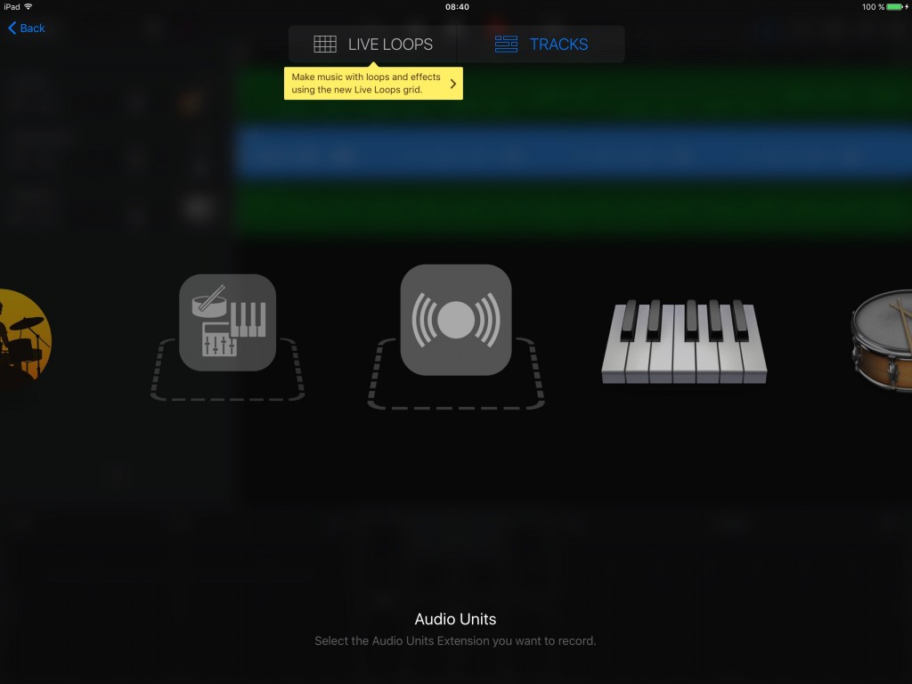 GarageBand now includes support for Audio Units instrument apps.