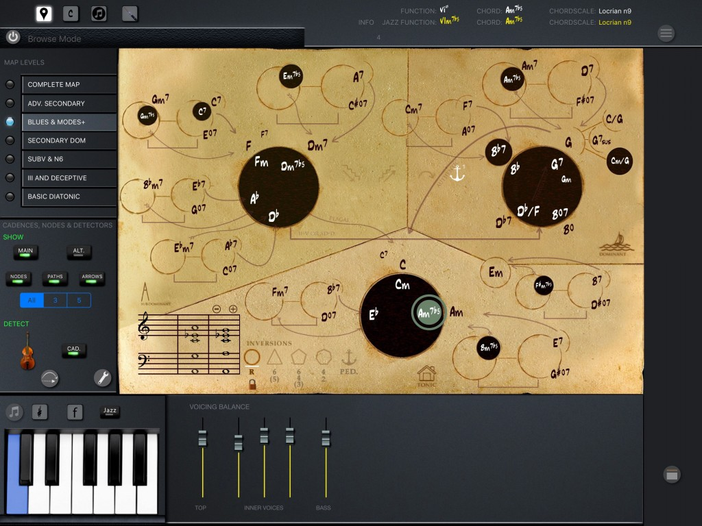 Mapping Tonal Harmony pro - now with native support for the larger iPad Pro screen.