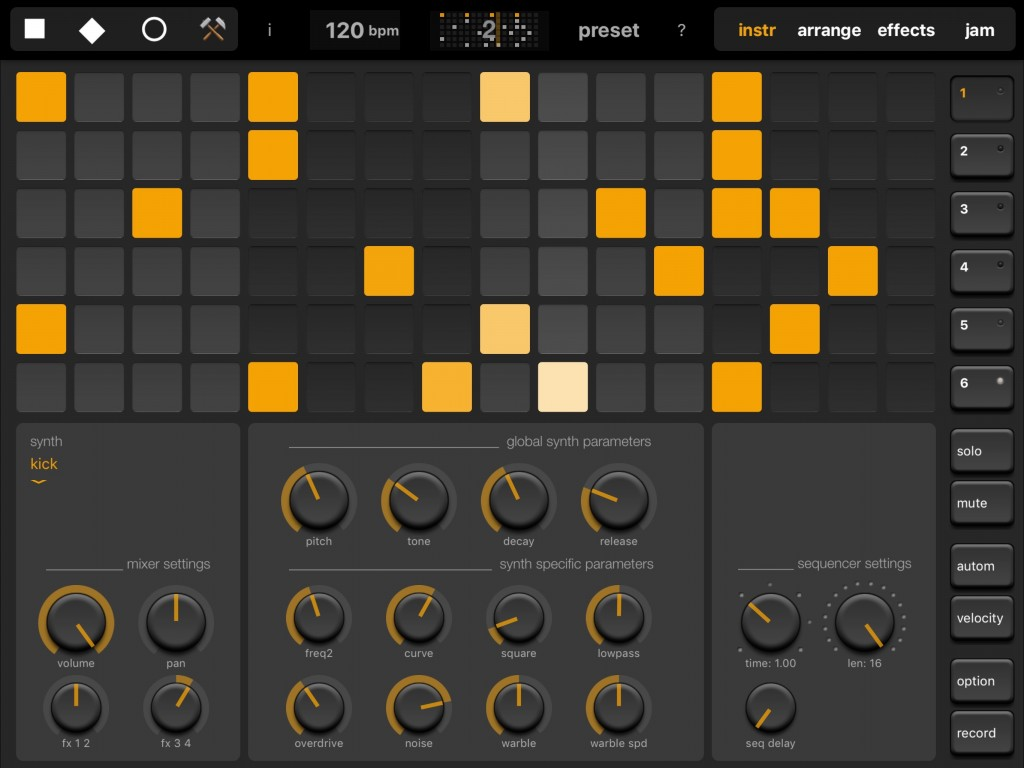 Elastic Drums in action - and tightly locked to other iOS music apps via Ableton Link.