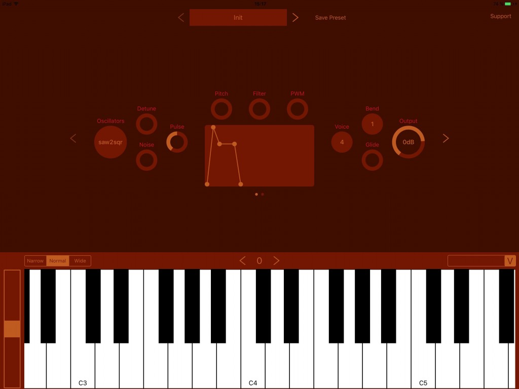 NS1 - an easy--to-use virtual analog synth -with AU support from the off.