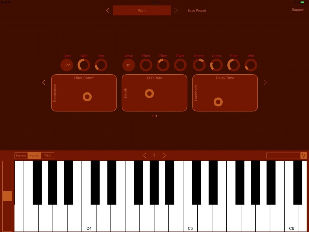 The app can be used in standalone mode and the X-Y pads make for some fun in terms of real-time sound tweaking.