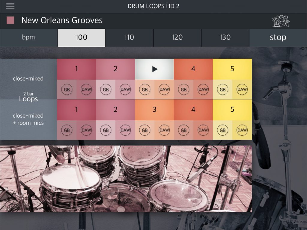 Drum Loops HD 2 - easy to use drum loops for your iOS music productions.