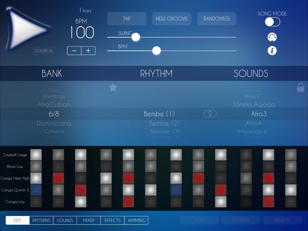ALDM3 is supplied with a whole host of preset patterns for you to mix and match between... but you can also edit these to write your own from scratch.