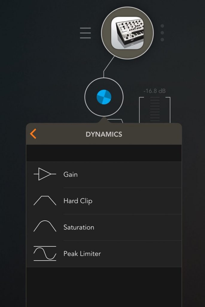 There are some useful tools amongst the various built-in effects including a number of different dynamics options.