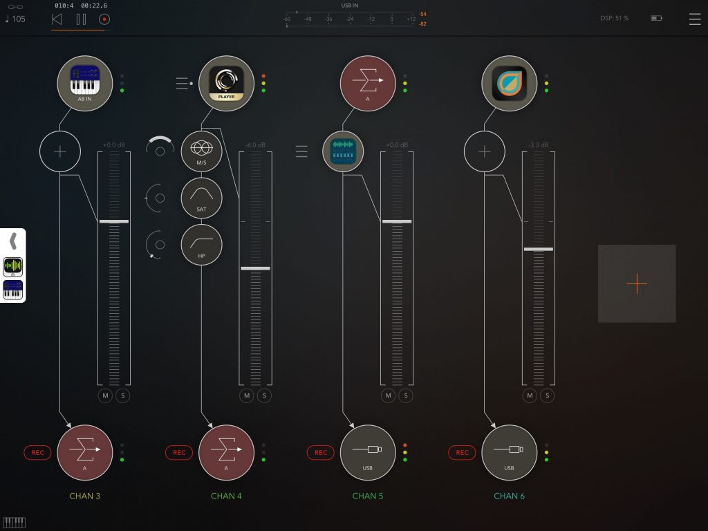 AUM was hugely impressive in use.... the audio routing offered is both flexible and powerful.