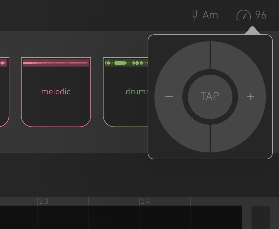 You can set Blocs Wave's tempo manually... but, as of the v.3.0update, Ableton Link is also supported.