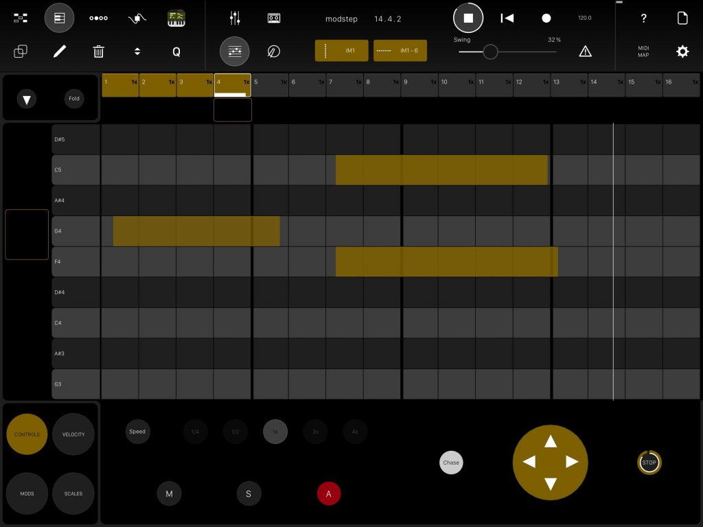 You can edit your MIDI clips via a piano-roll style editor.