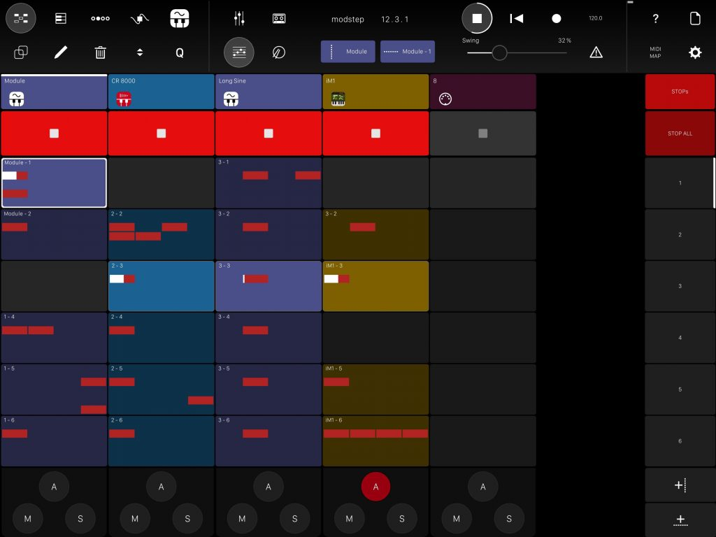MIDI 'clips' form the heart of your compositional process with Modstep.