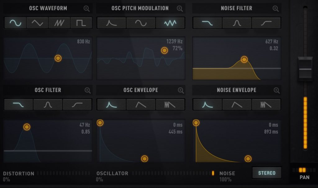 The graphical interface of the synth engine is a pleasure to use and makes experimenting with your sounds a lot of fun.