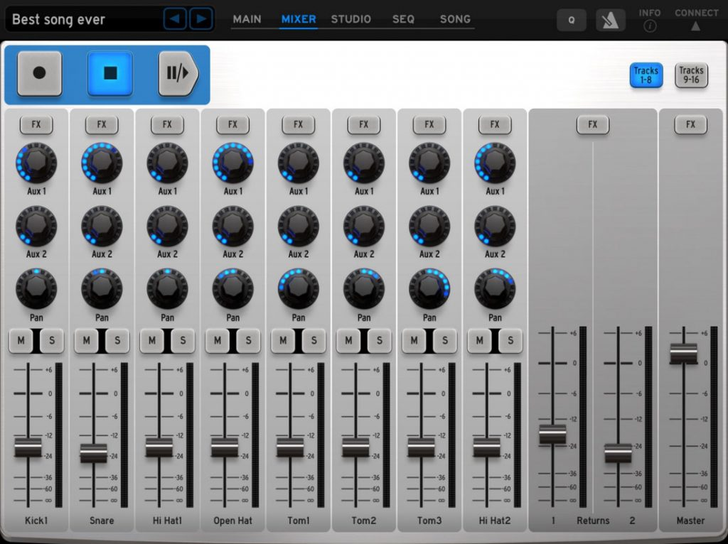 iSpark offers a comprehensive collection of classic drum machine features but wrapped within a modern, touchscreen, user interface.