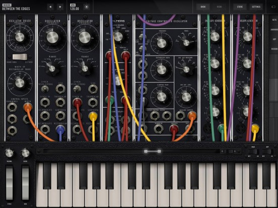 Moog's Model 15 - classic modular analog synth recreated in an iOS music app.