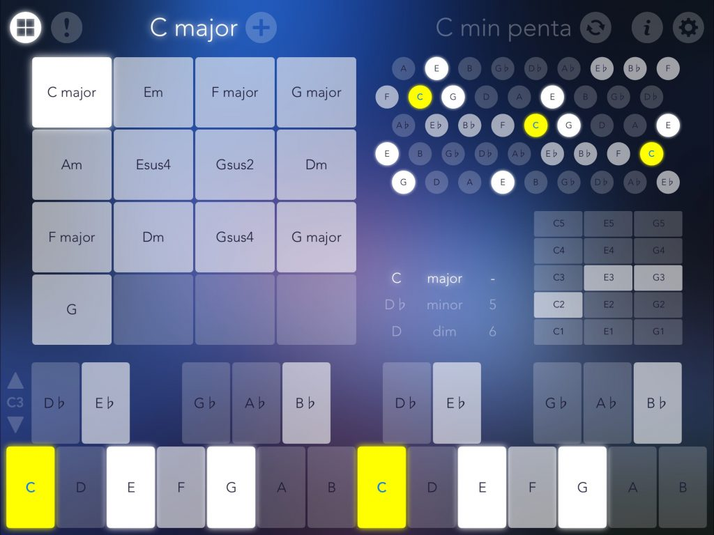 Navichord's Chord pad features is very easy to use....