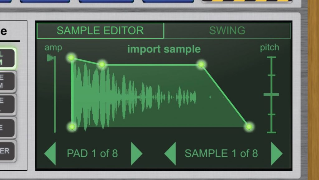 The Sample Editor is neat and easy to use....