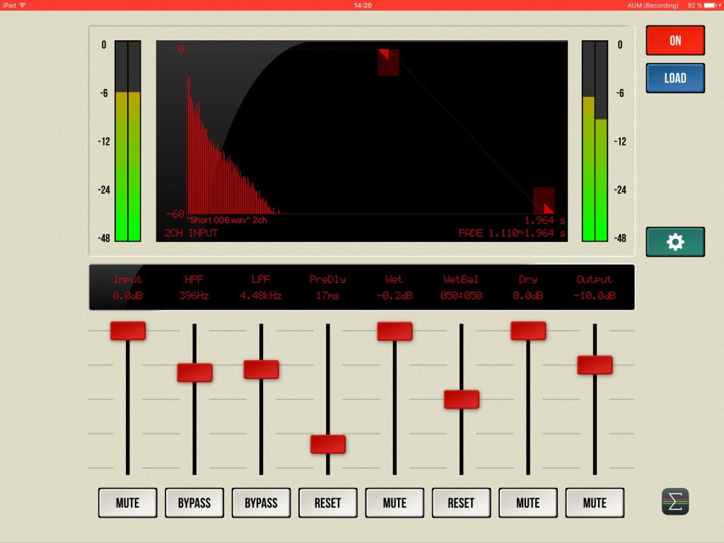 iConvolver - a compact convolution-based reverb for iOS.