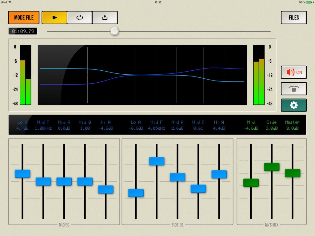 MC Proc can be used to playback standard stereo audio files as shown here.