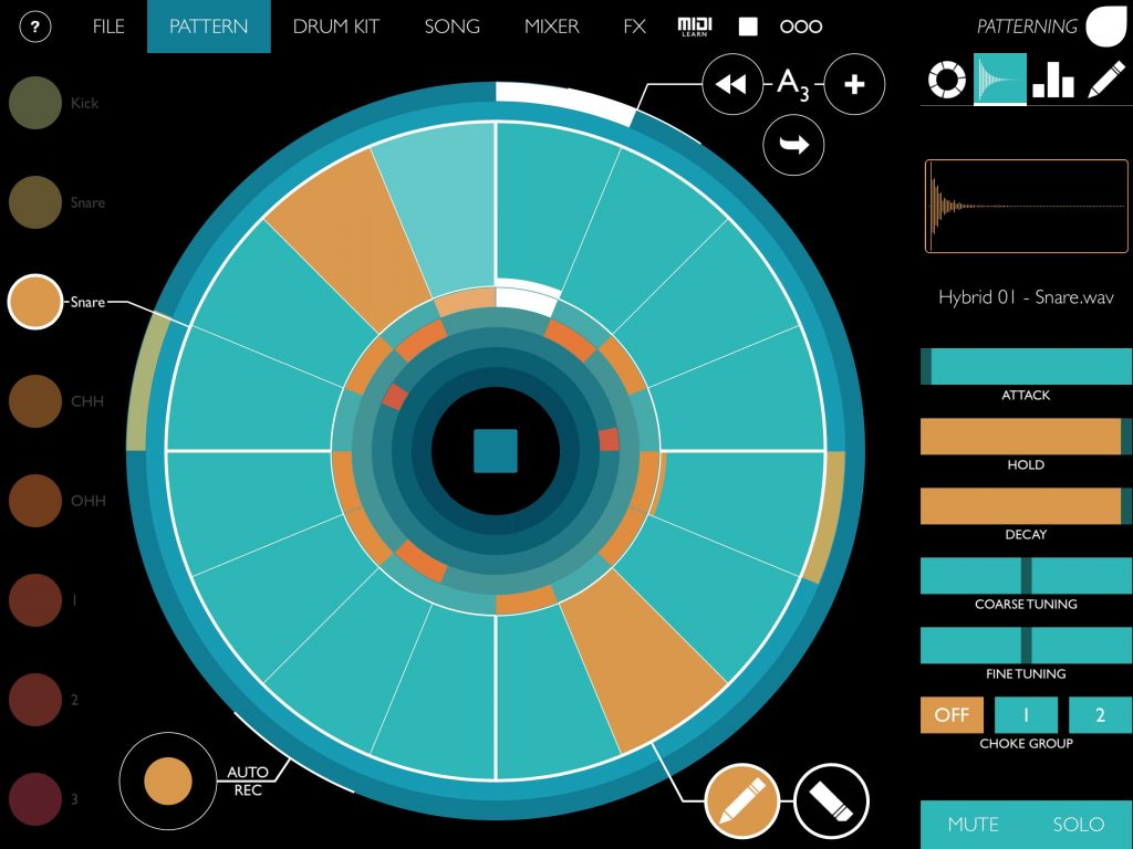 Patterning - brilliant iOS drum and groove machine.