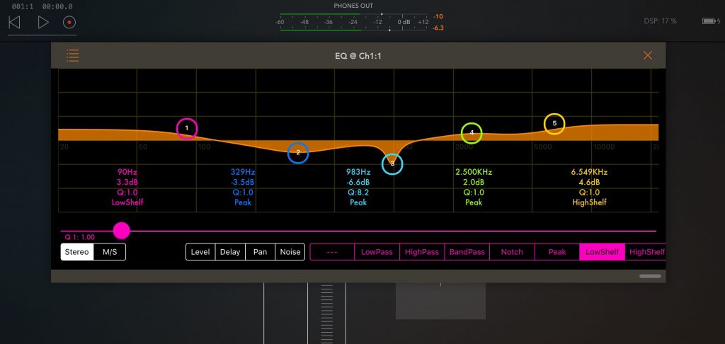 With five flexible bands, zMors EQ offers a very respectable level of tonal control for almost any EQtask.