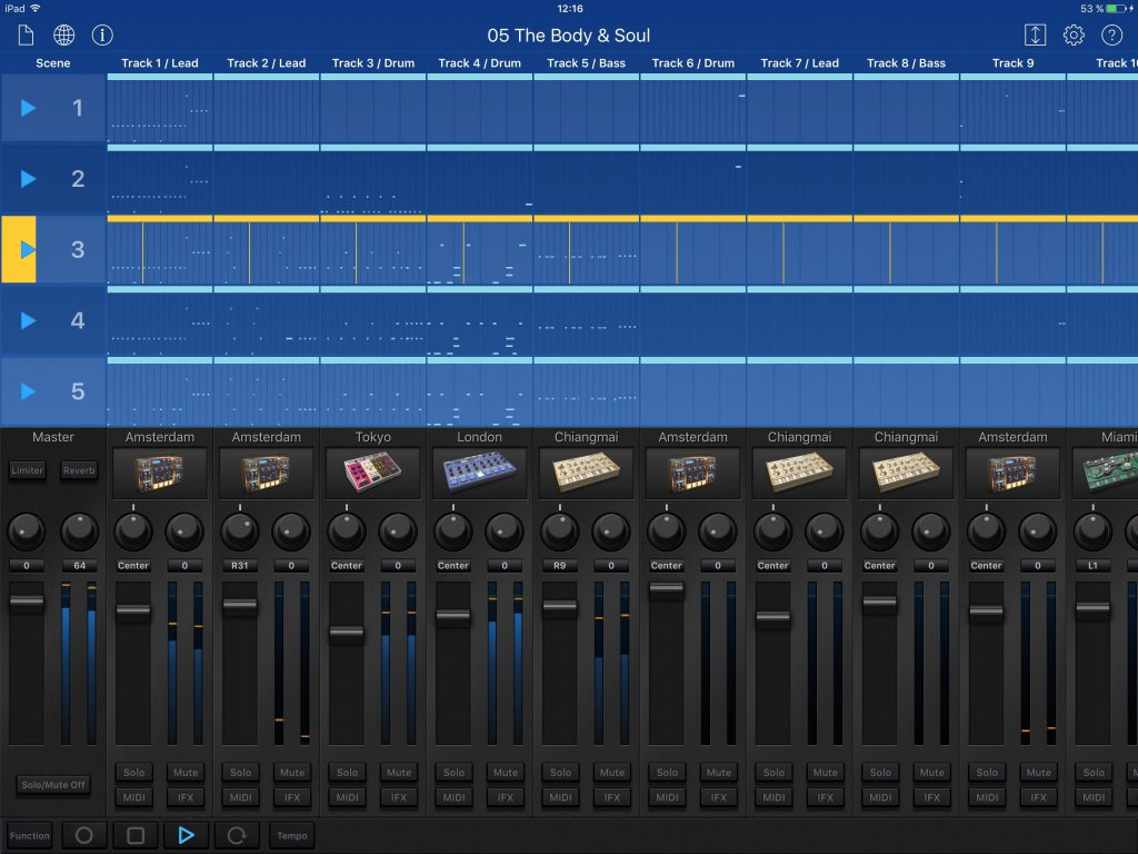 Gadget - slick and powerful 'all-in-one' electronic music production app for iOS.
