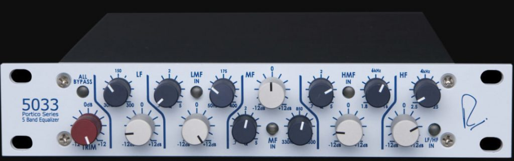 Neve's 5033 hardware EQ is the inspiration behind the 6144. Top-notch stuff if you can afford it...