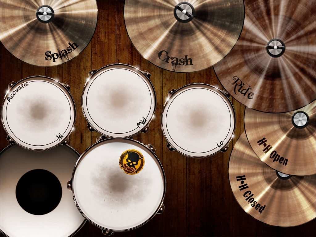 Drums! - a virtual drum kit ready to be played via the touchscreen.