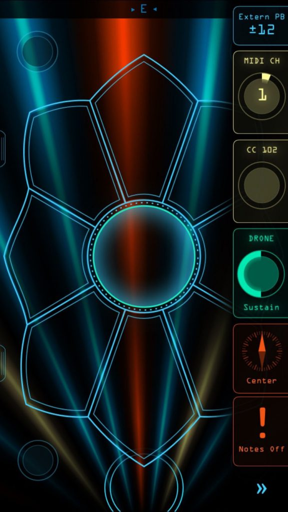 The ribbon strips and option controls can be opened while still 'playing' and generating MIDI data if you need to tweaks some settings on the fly....