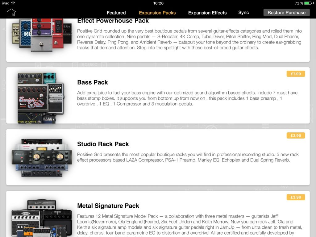 BIAS FX includes a number of IAP Expansion Packs for those that need more (virtual) gear... and the Bass Expansion Pack is the latest addition.