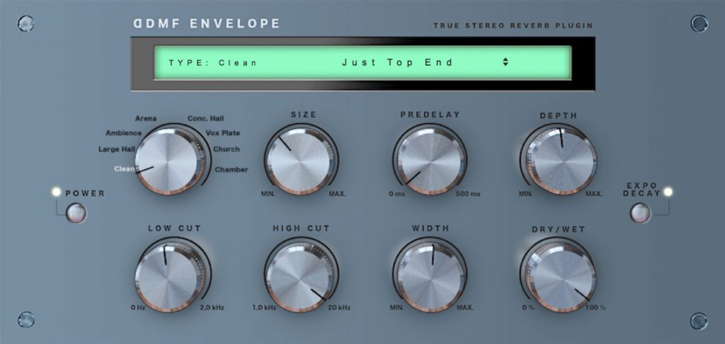 Envelope Reverb - DDMF deliver an excellent reverb effect in an AU format.