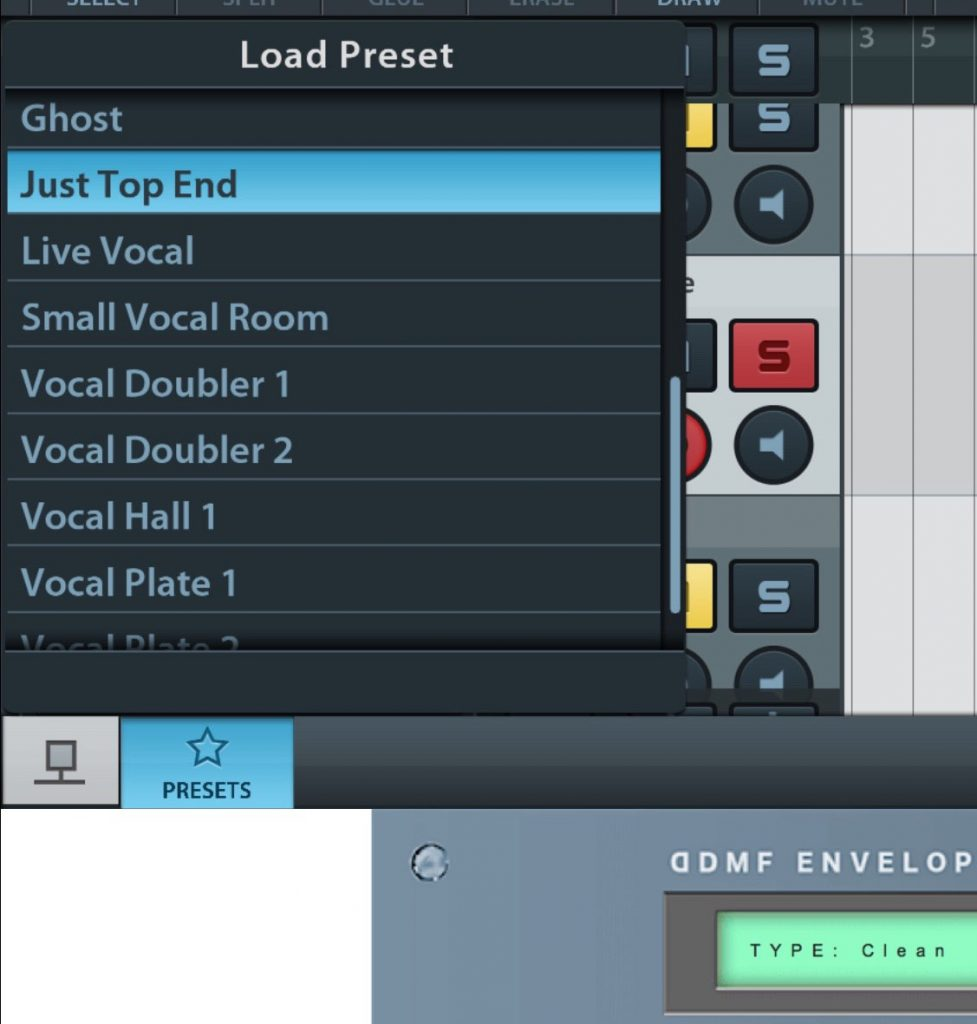 The app is supplied with an excellent range of presets covering a range of reverb styles.