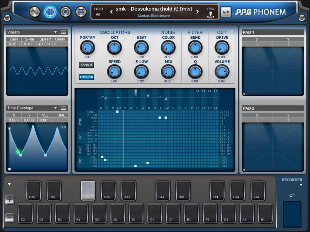 The modulation matrix provides all sorts of interesting options in terms of creating tonal changes within your Phenom patches.... be they vocal or non-vocal in nature.