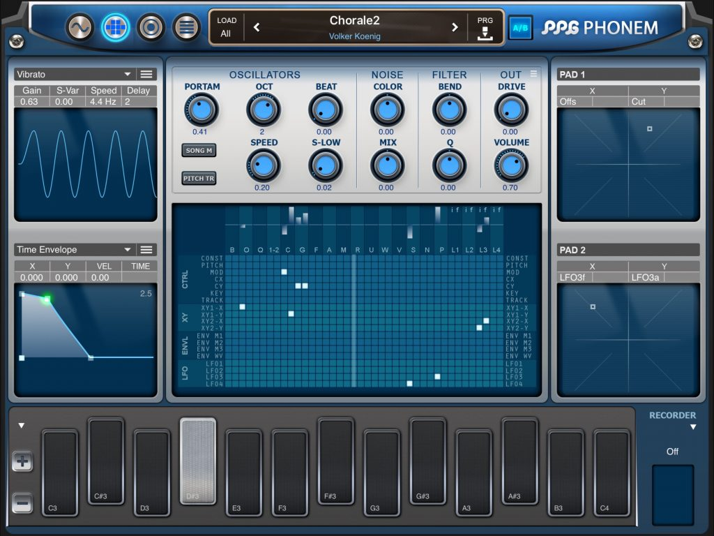 The synth engine offers lots of interesting options for sound design.