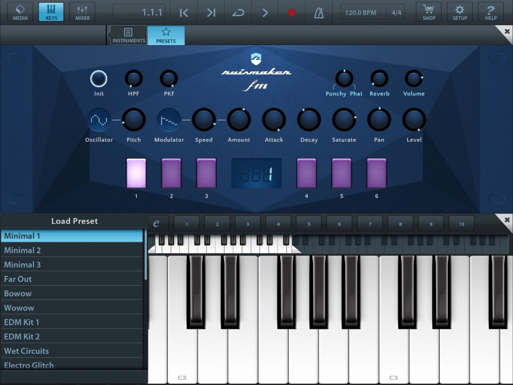 Ruismaker Fm is supplied with a good collection of preset kits that show off its synth engine well.