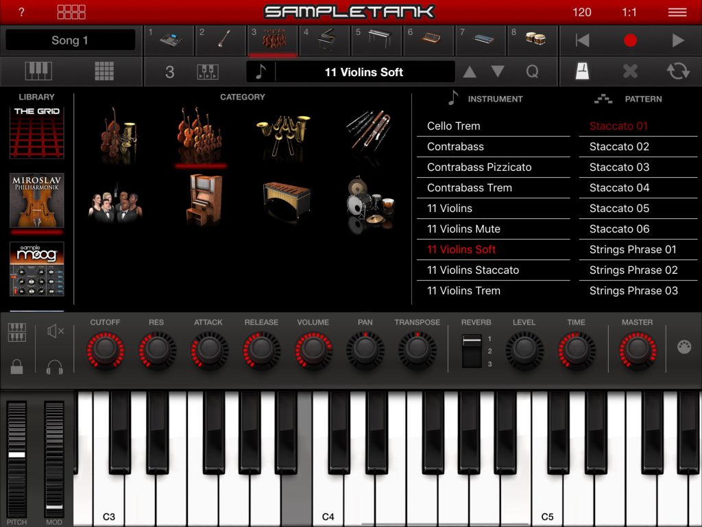 There are some excellent IAPs with additional sounds within SampleTank including the Miroslav Philharmonik orchestral library.