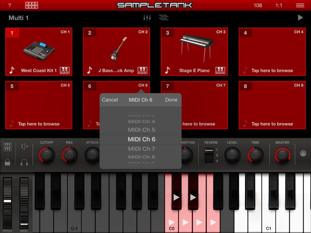 The 'live' mode provides a more performance -orientated means of interacting with SampleTank.