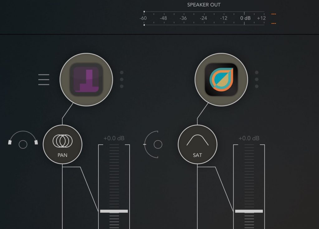 Shapesynth seems to play nicely via IAA or Audiobus.