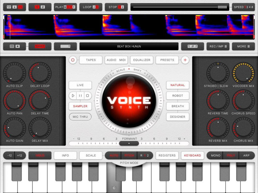 The Voice Synth UI has had a couple of further tweaks in this update.... Note the new Vocoder Mix control on the right.