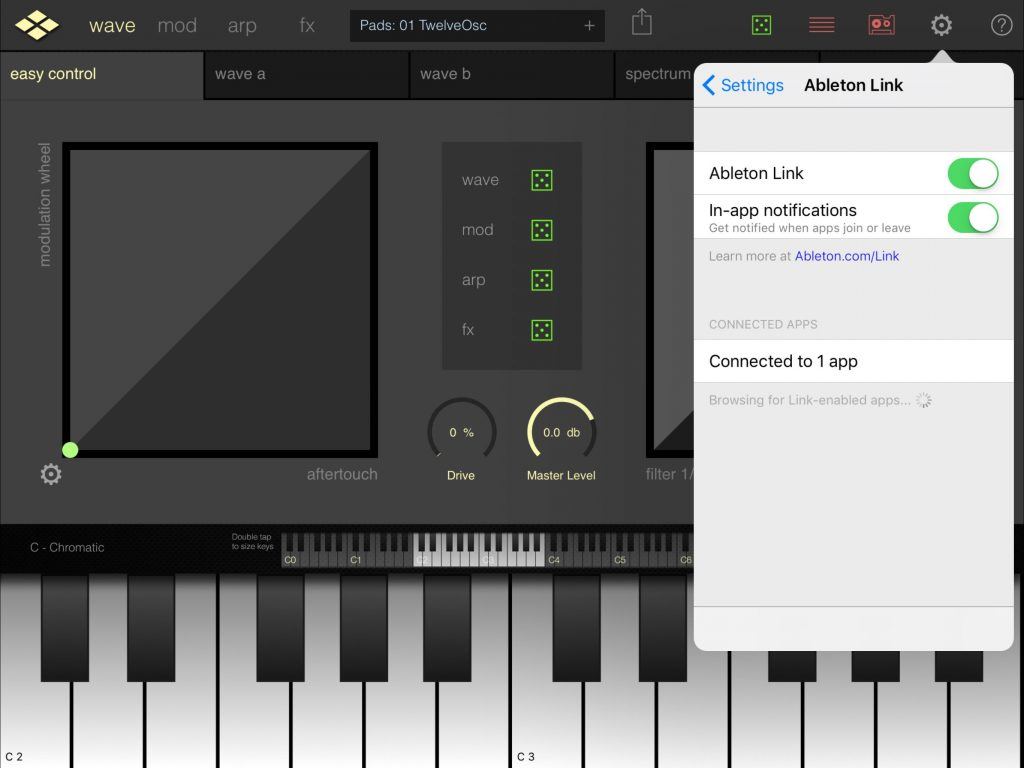 Yay! Addictive Pro now has support for Ableton Link....