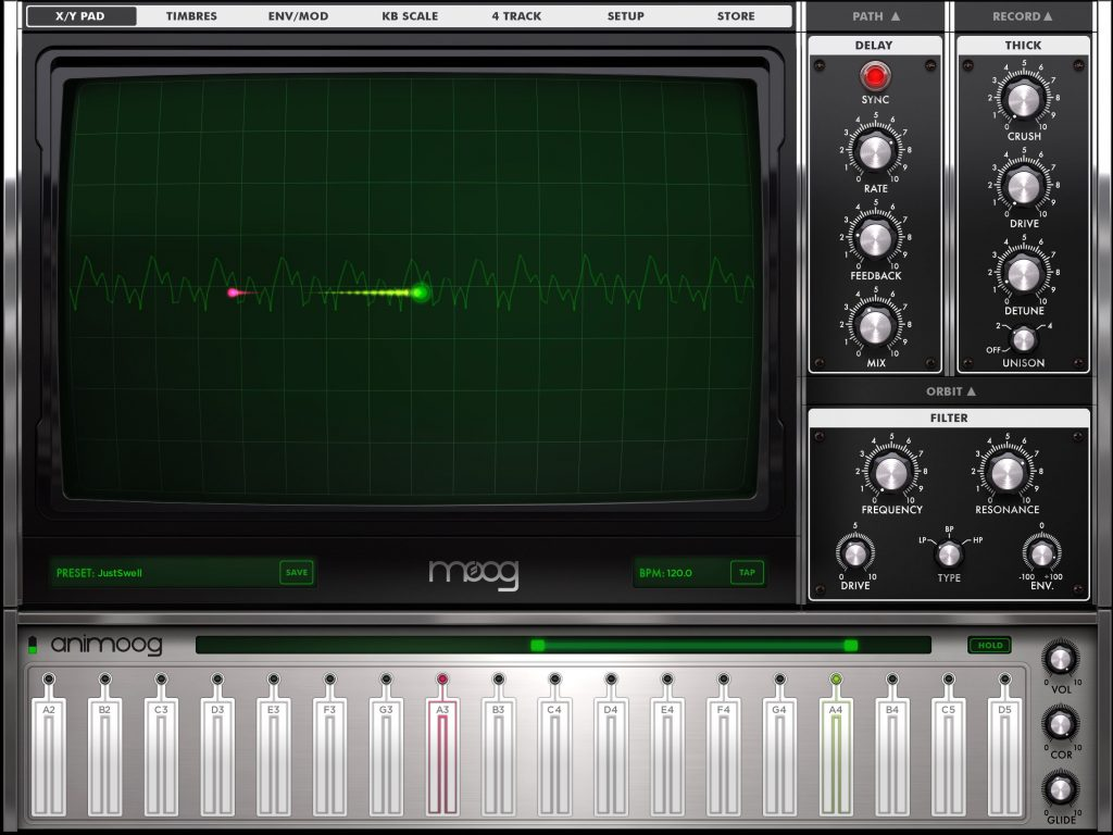 Animoog - still a bit of an iOS classic synth and well worth experiencing for any iOS musician.