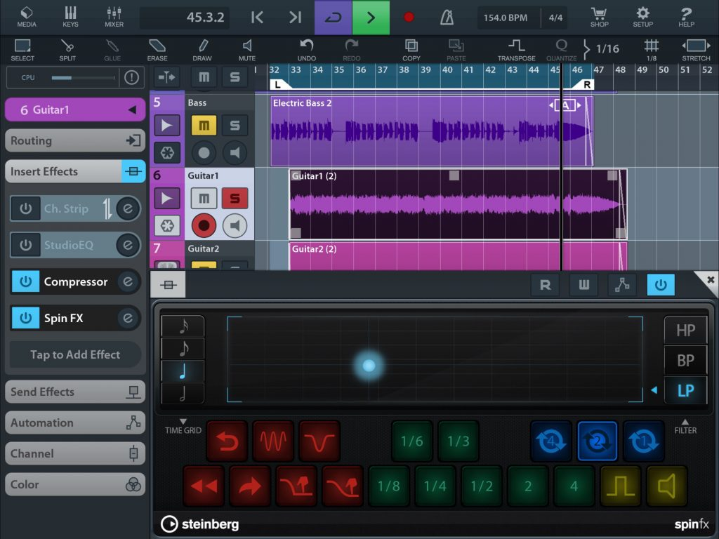 DJ-style effects anyone. The new Spin FX is a lot of fun... and can be automated.