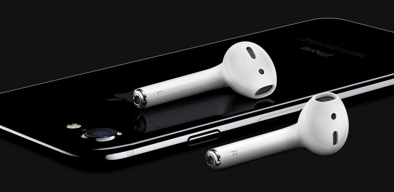 The downside - well, perhaps a downside - is the loss of the analog headphone jack. That said, the AirPods do look kind of cool even if they look very easy to lose.