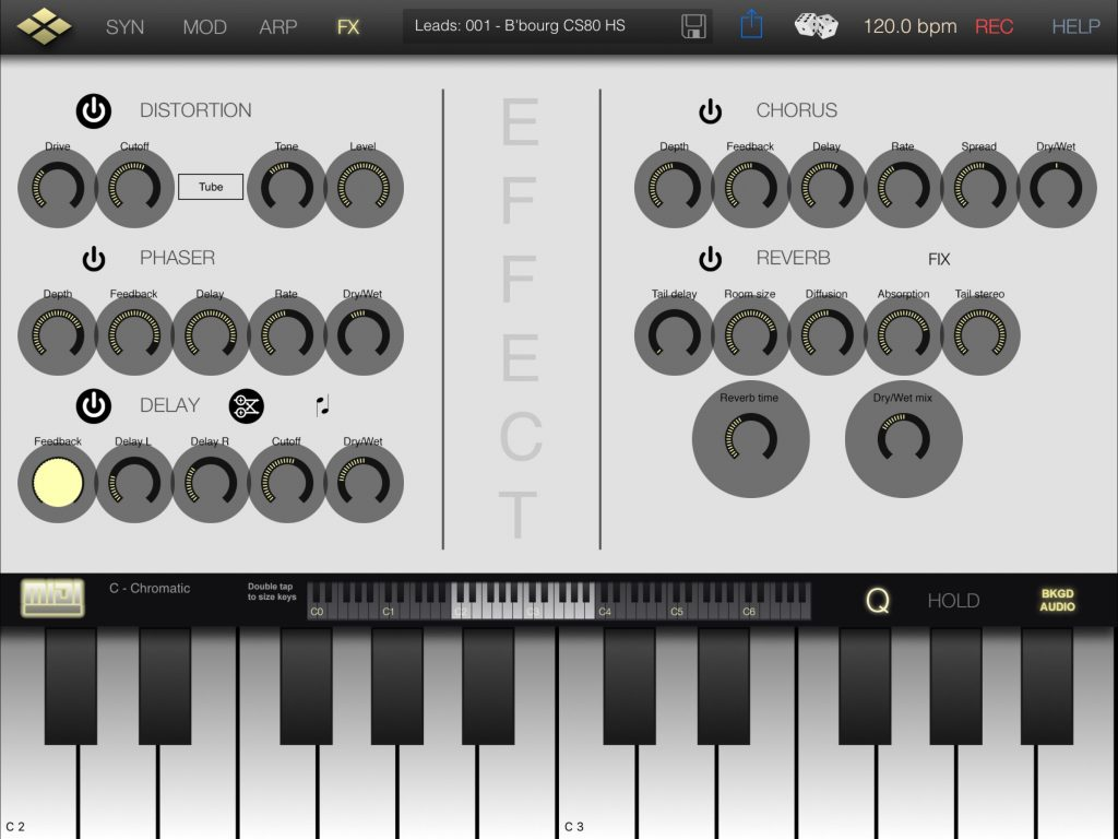 Tera Synth includes a full MIDI Learn facility allowing external control of the app.