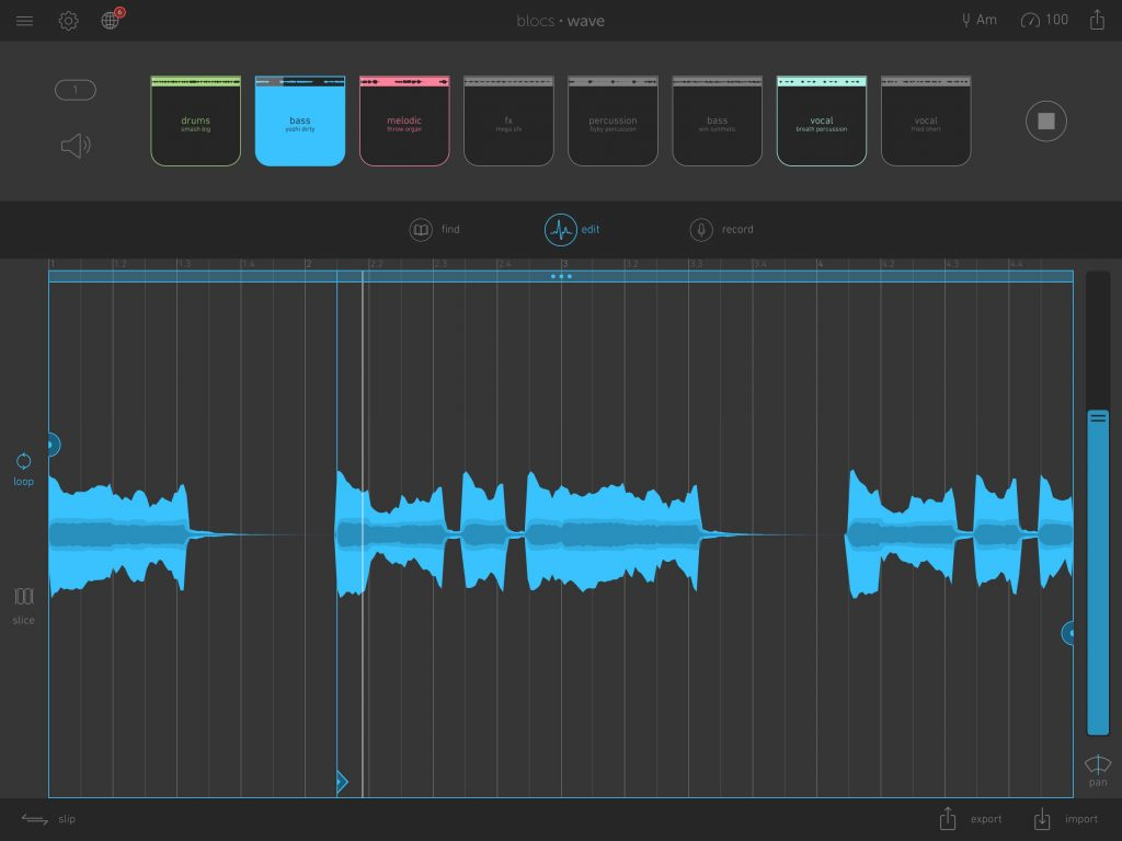 Blocs Wave.... and note the new 'start point' cursor in the waveform display.