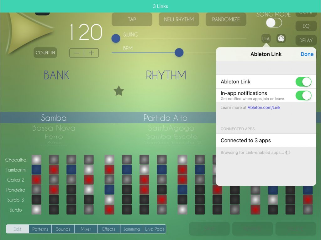 Yay! Ableton Link support is now included in the app.