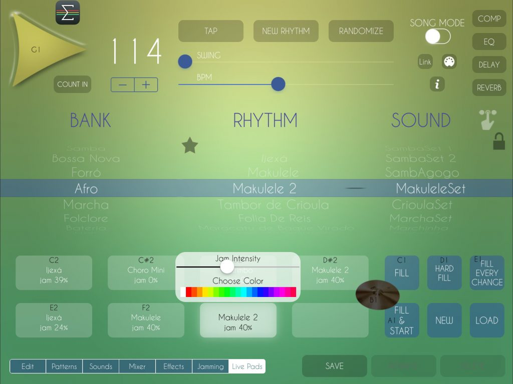 The Live Pads features has now also been added to Brazilian Drum Machine.