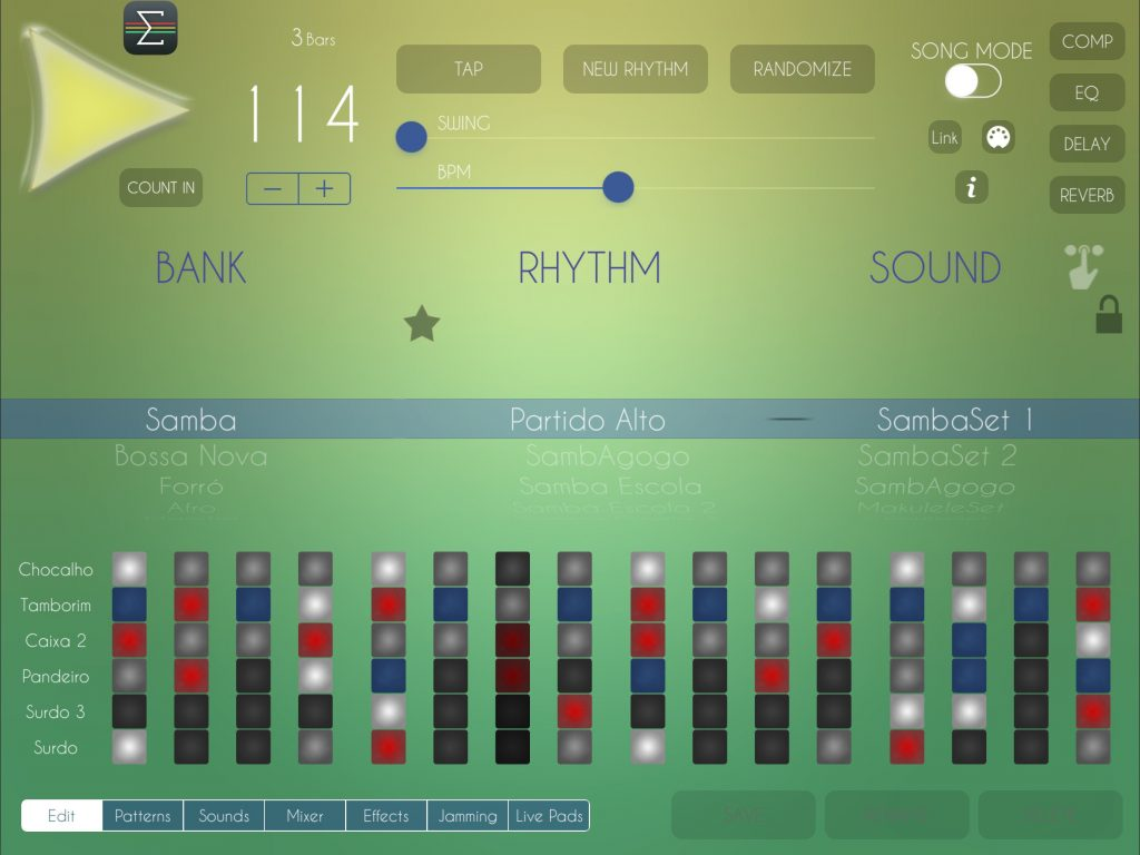 Brazilian Drum Machine - just as brilliant as all the other drum apps in the Luis martinez catalogue :-)