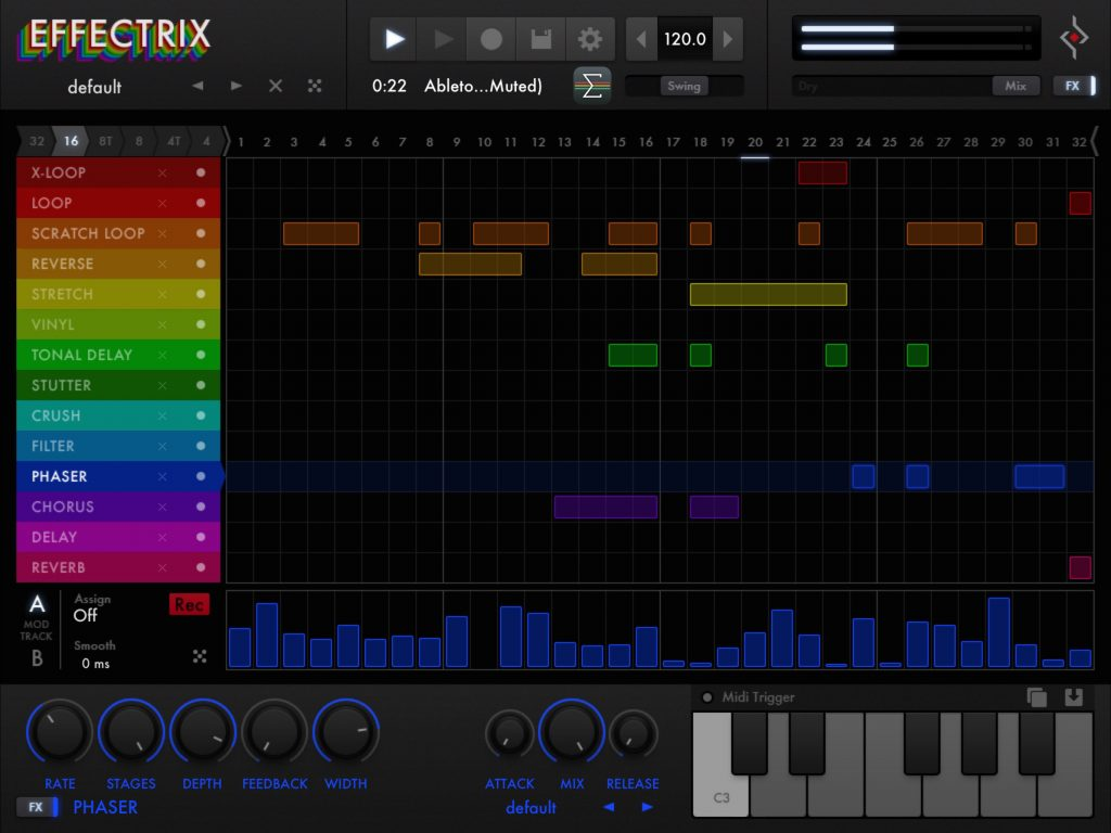 Effectrix - Sugar Bytes step-based effects sequencer now includes Ableton Link support.