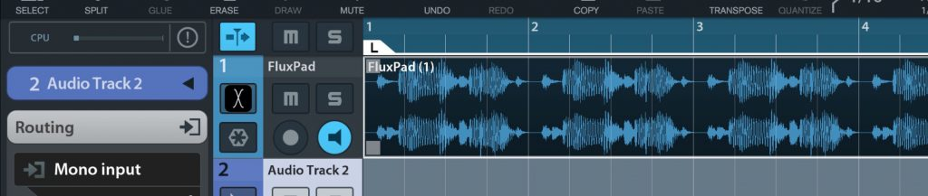 fluXpad seemed to play very nicely with other iOS music apps including Cubasis shown here.