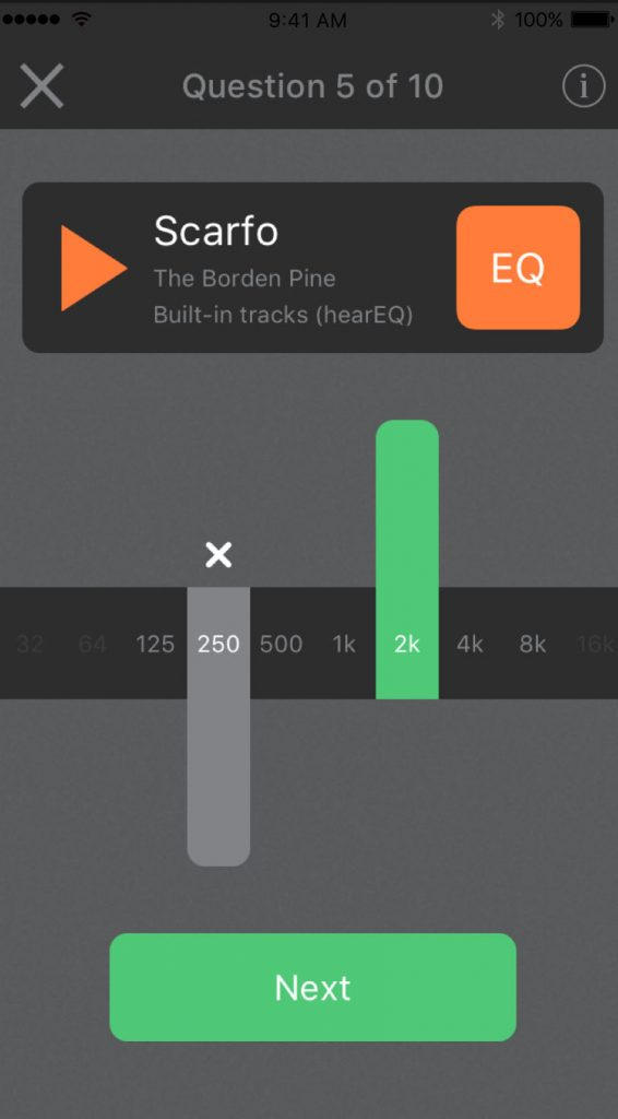 hearEQ - a great way to work on your ability to identify different frequencies within a mix.