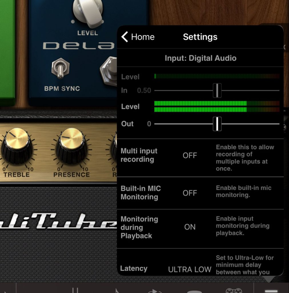 The iRig HD 2 worked well with AmpliTube....