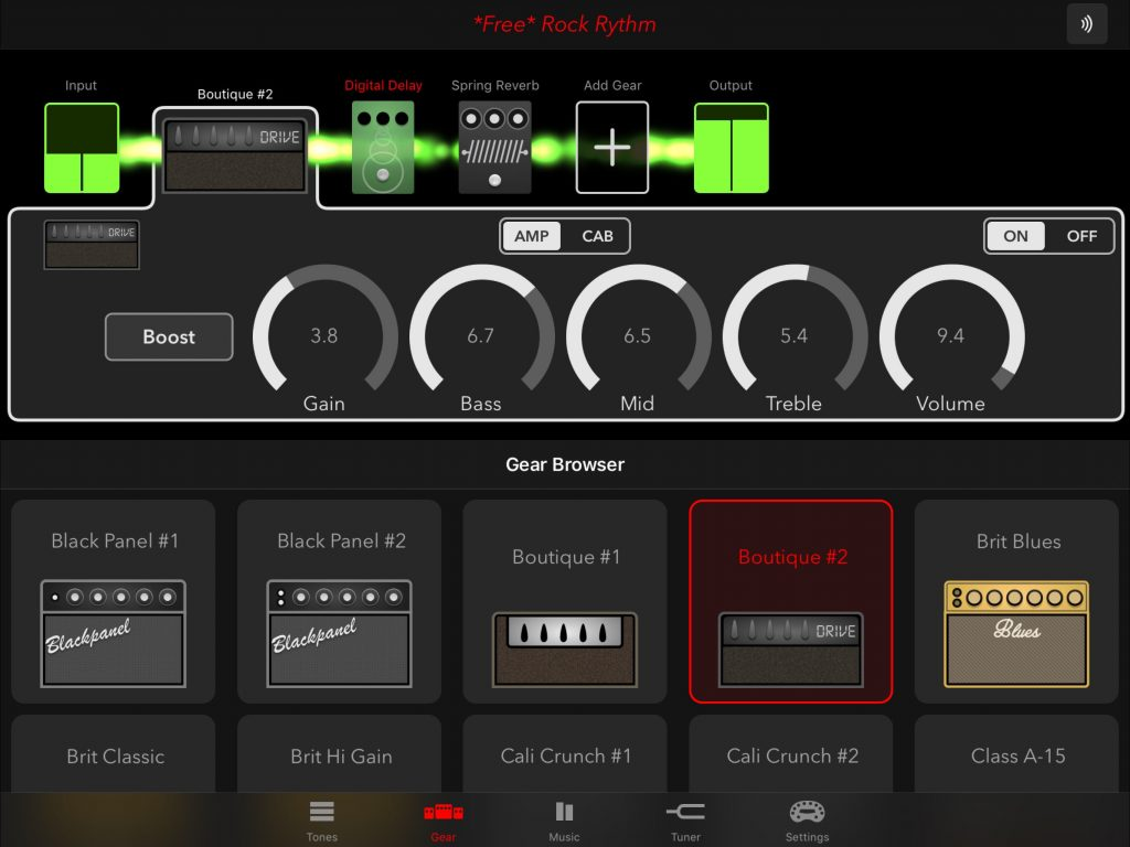 ... but also with other amp modeller app such as Mobile POD shown here.